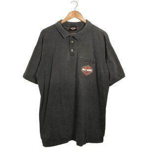 Vintage 1996 Harley Davidson double sided polo